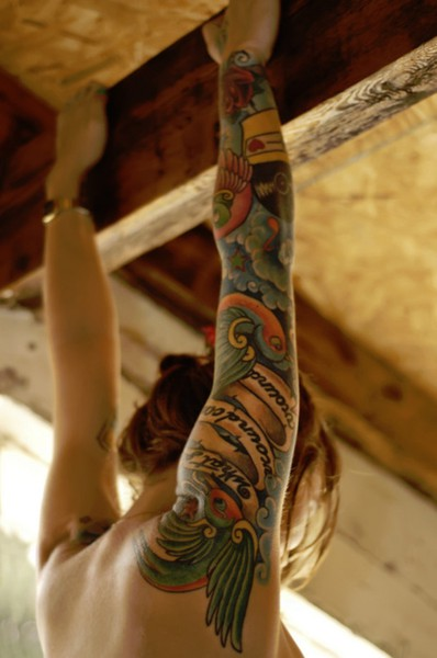 Colorful tattoo sleeve