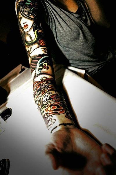 Bold intricate tattoo sleeve
